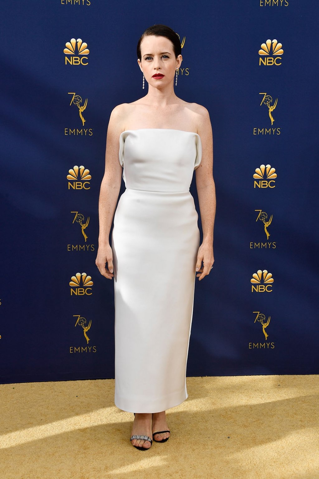 Claire Foy in Calvin Klein by Appointment, 70th Annual Primetime Emmy Awards, Betty White, Emmys 2018, Fashion, Featured, Glenn Weiss, Hannah Gadsby, highlights, Jav Svendsen, Online Exclusive, Style, The Marvellous Mrs. Maisel, top moments, We solved it, Diversity