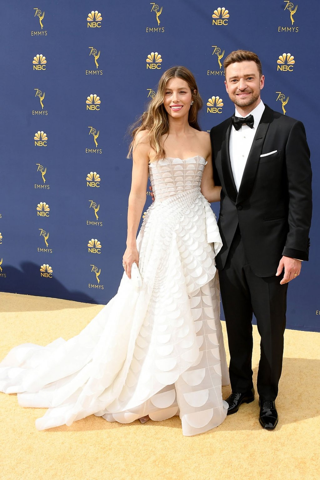Jessica Biel in Ralph and Russo Couture with Justin Timberlake, 70th Annual Primetime Emmy Awards, Betty White, Emmys 2018, Fashion, Featured, Glenn Weiss, Hannah Gadsby, highlights, Jav Svendsen, Online Exclusive, Style, The Marvellous Mrs. Maisel, top moments, We solved it, Diversity