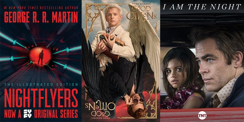 Amazon Prime, Chris Pine, City on a Hill, Deadly Class, Featured, Four More Shots Please!, George RR Martin, Good Omens, Hulu, I am the Night, John Green, Looking for Alaska, Neil Gaiman, Netflix, new Tv series, Nightflyers, Online Exclusive, Roswell, The Witcher, TV Series, TV series 2018, Watchmen