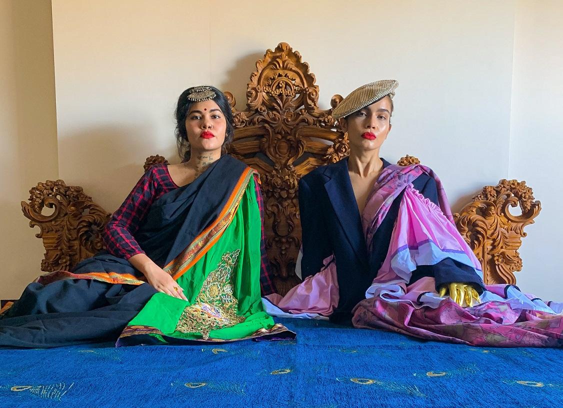 COVID-19, Doyel Joshi, Fashion, Featured, Fountainhead, lockdown, Narangidevi, Online Exclusive, Pranchal Joshi, quaratine, Upcycling