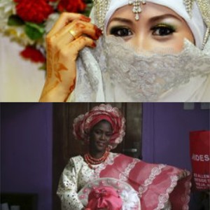 Sposa indonesiana e nigeriana