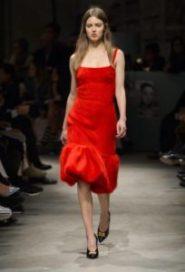 moda, fashion, rosso, sfilate, passerelle, prada