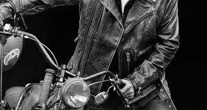 giacca di pelle biker