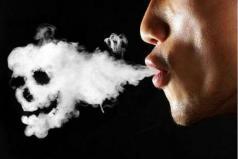 faccia da fumatore