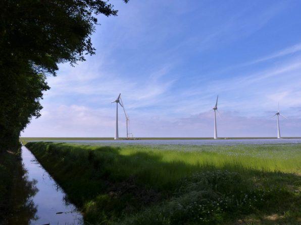 NOP Agrowind in aanbouw.