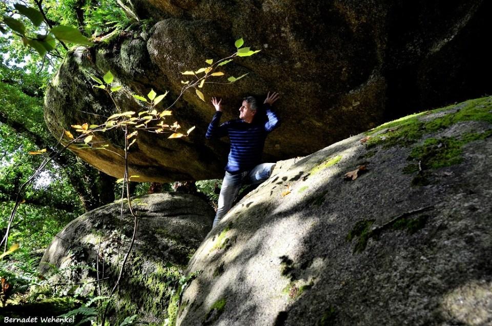 Ludieke fotoshoot bij de 'grandes roches'