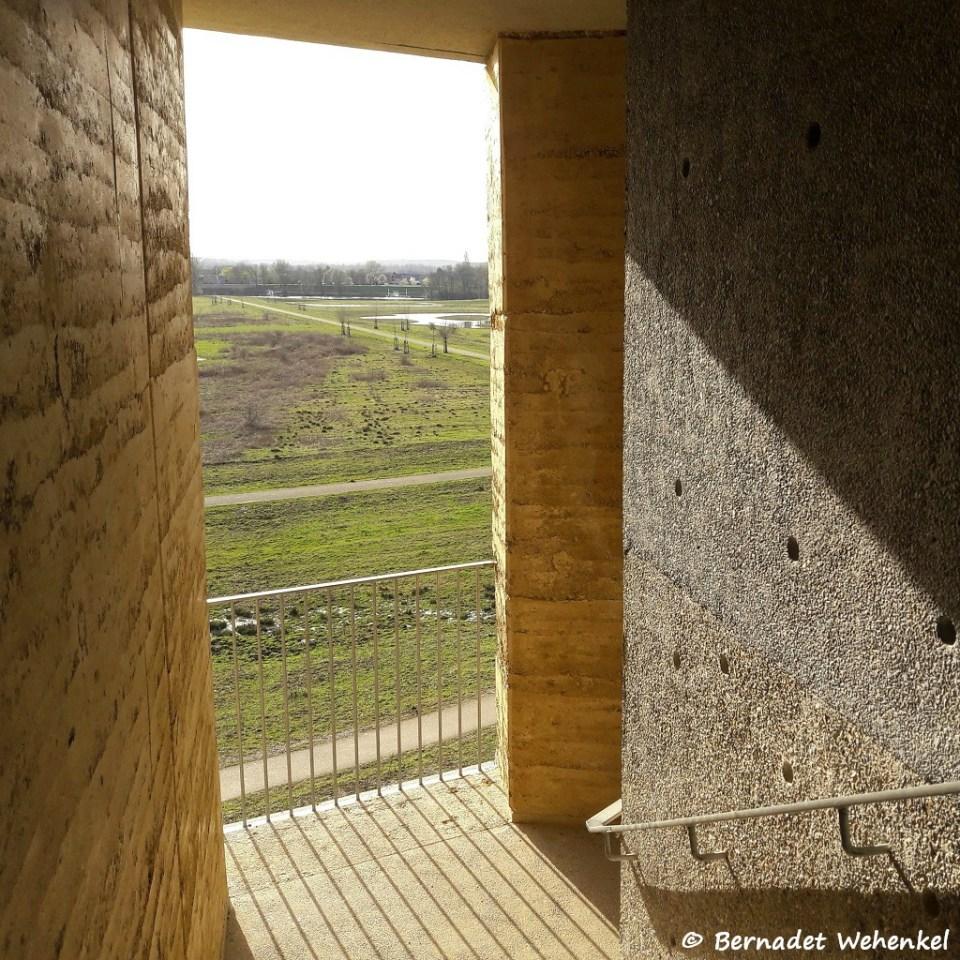 zicht vanuit de uitkijktoren in Negenoord-Kerkeweerd