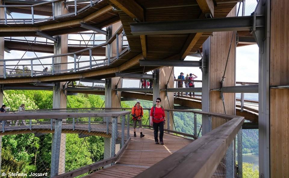 Op de uitkijktoren van het Baumwipfelpfad.