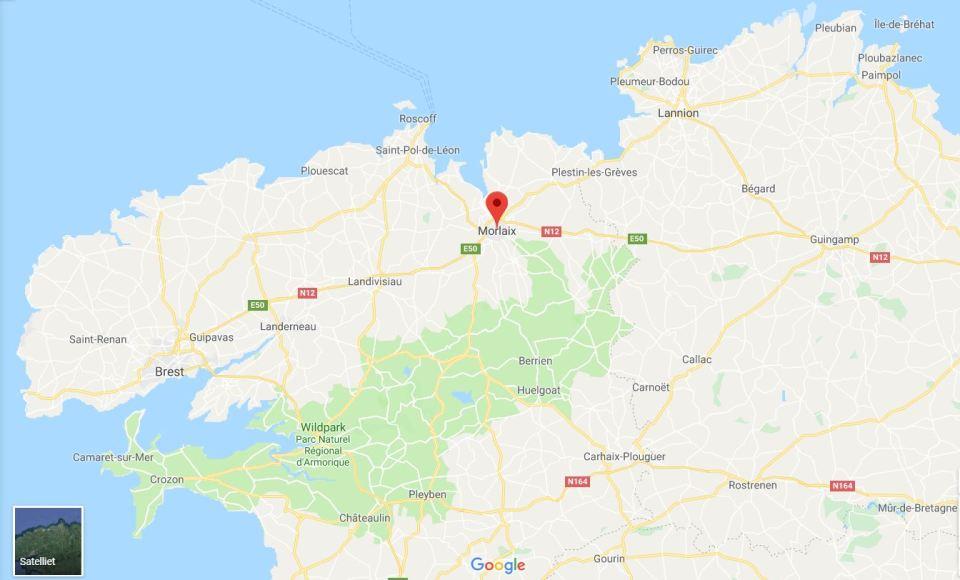 Deelkaart van Finistère