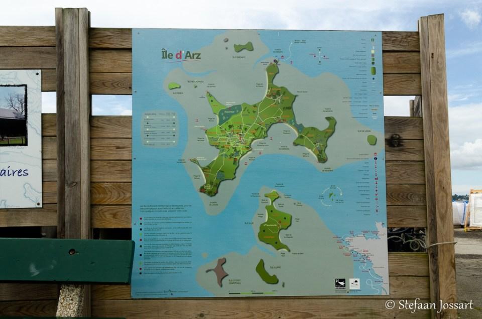 Plan van Île d'Arz.