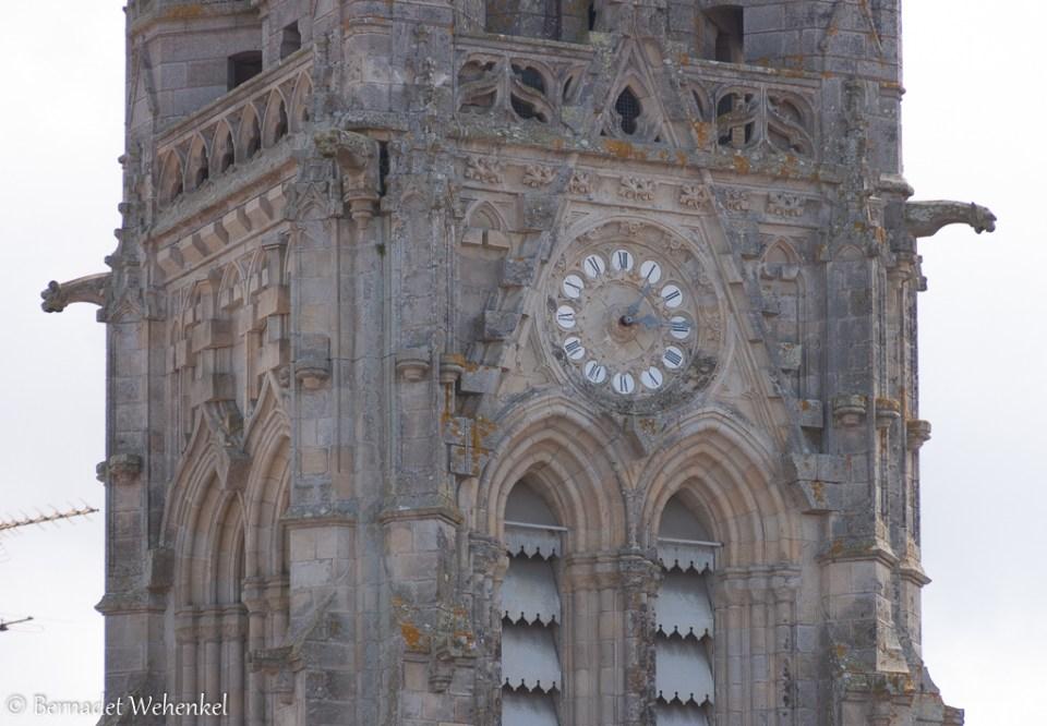 Detail van de basiliek Notre-Dame-du-Roncier in Josselin