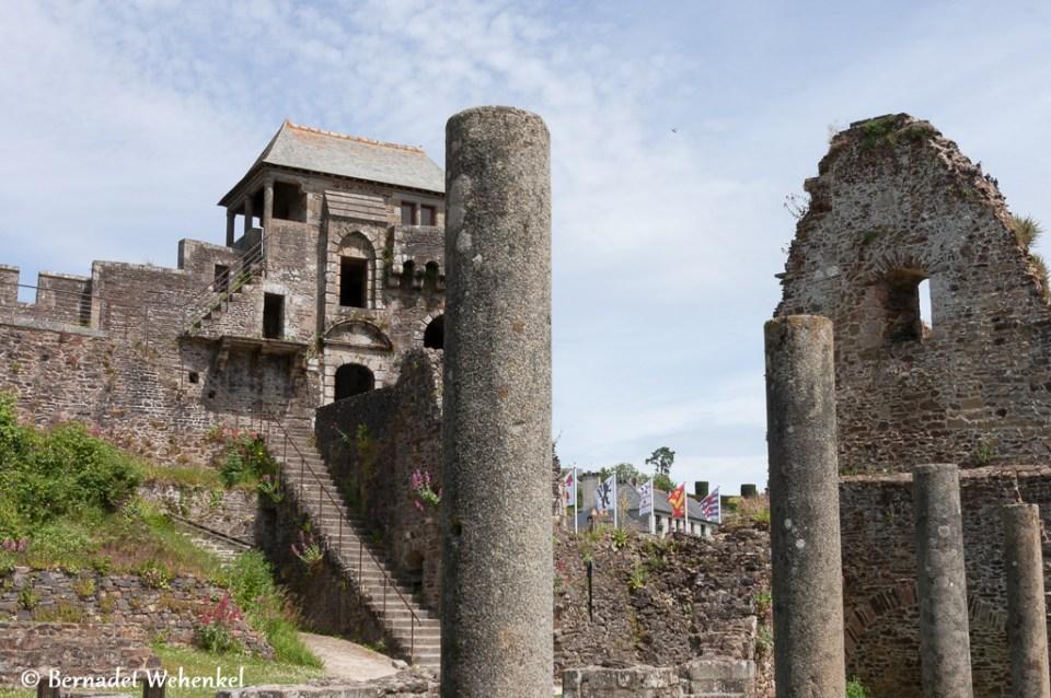 Detail kasteel van Fougèress