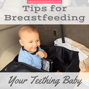 """<p style=""""text-align: center;""""><span style=""""color: #ff5e78; font-family: 'comic sans ms', sans-serif;""""><strong>Tips for Breastfeeding a Teething Baby</strong></span></p>"""