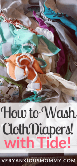 Are you a cloth diaper newbie? Looking for an easy cloth diaper wash routine? After much trial and error, I have found the one cloth diaper wash routine that works for me. How to Wash Cloth Diapers with Tide.