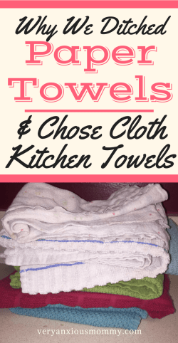 Why we switched from Paper Towels to Cloth Towels. And how you can too. Simple tips to make switching from paper towels to reusable cloth easier and more efficient!