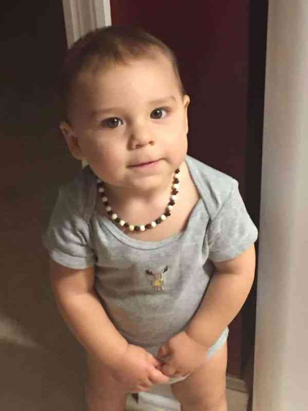 Amber Teething Necklace from Baltic Essentials has minimized my son's irritability during teething.