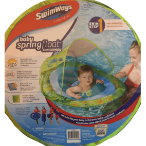 12 must-haves to pack when heading to the pool with baby. Toddler. Swimways float. Water safety.