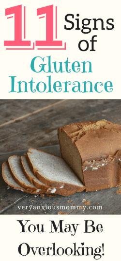 11 Signs of gluten intolerance you may be overlooking. gluten free, gluten allergy, gluten sensitivity, celiac disease, wheat, rye, barley.
