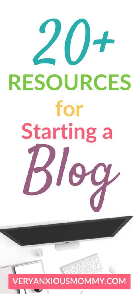 22 resources for starting a blog. How to start a blog. blogging tools. blog resources. mom blog. #startablog #blogresources #bloggingtools