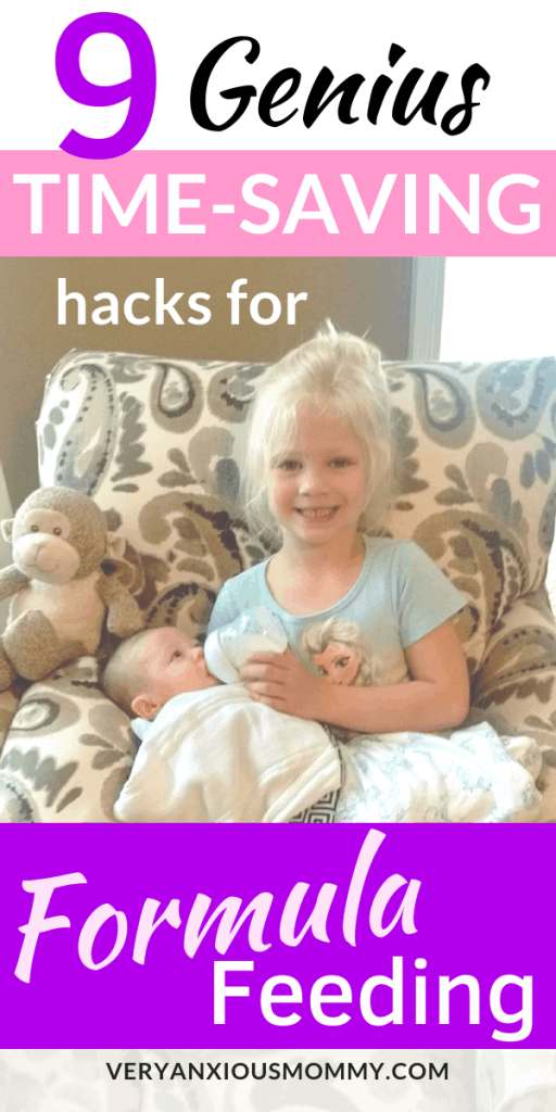 9 Genius Time-Saving Hacks for Formula Feeding, making formula on the go, how to prepare baby formula at night, baby bottle cleaning hacks, best way to make a bottle, formula feeding tips tricks, baby formula tips, tips for formula feeding moms,