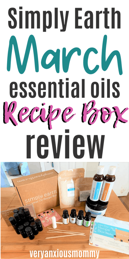 Simply Earth Essential Oils March Recipe Box Review