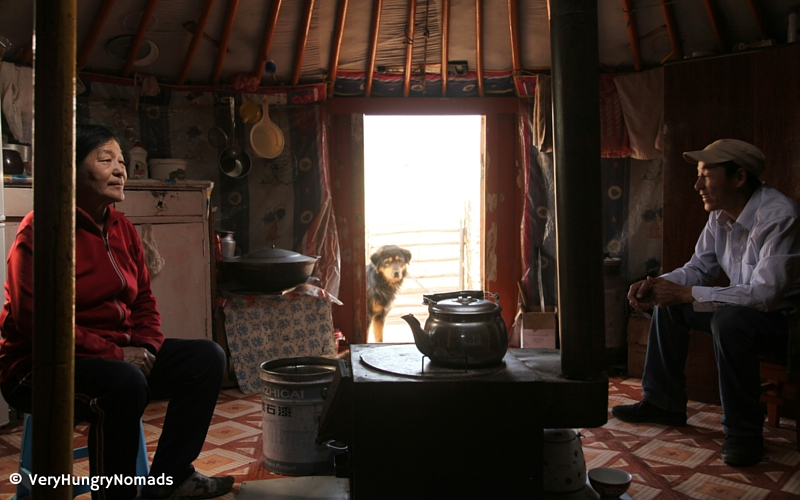 Mongolian family in their home - People we meet travelling