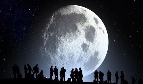 Luna vista nocturna