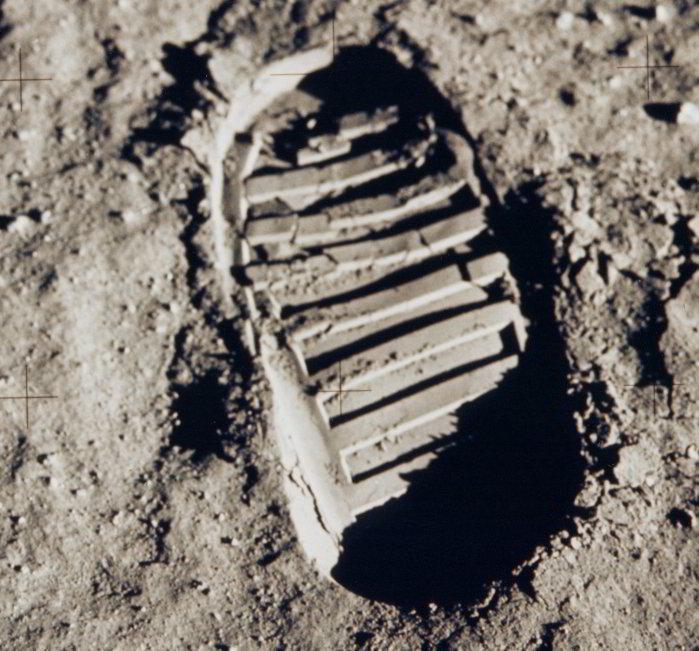 Luna huella Buzz Aldrin