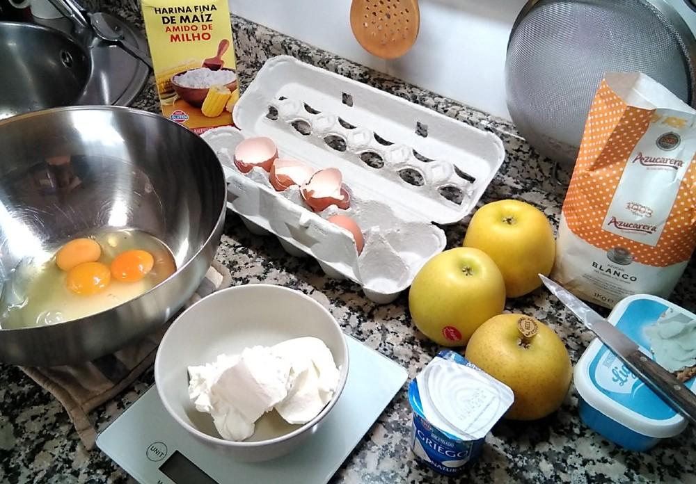 Tarta de manzana y compota de calabaza