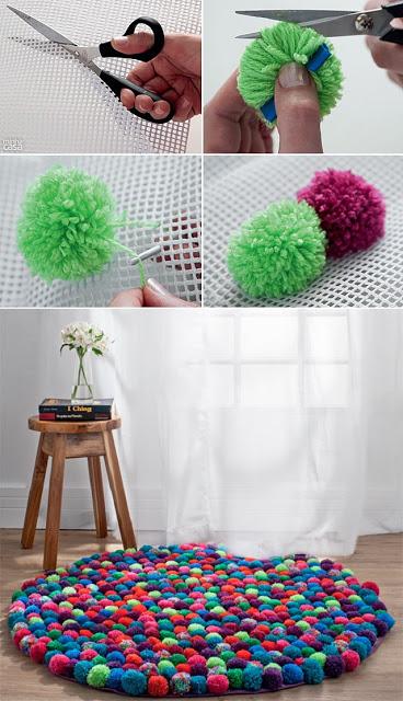 3.Make a pompom rug
