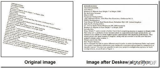 DESKEW DESPECKLE PDF