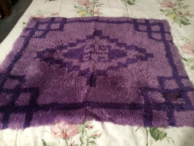Purple Latch Hook Rug
