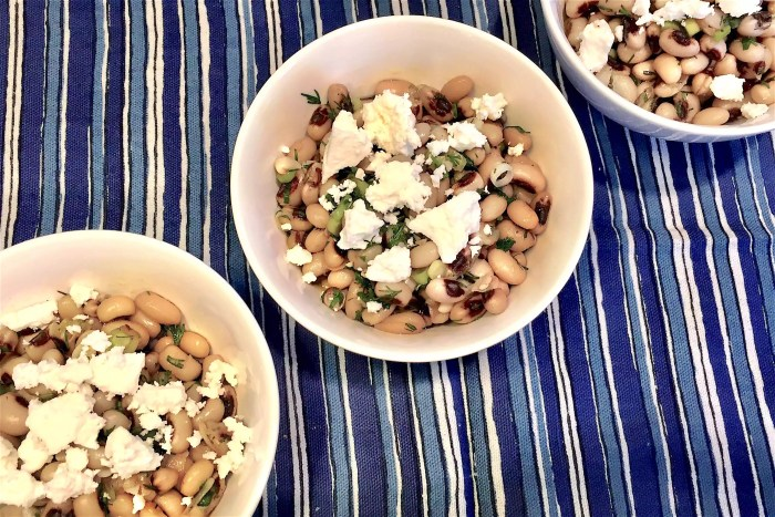marinated black-eyed peas