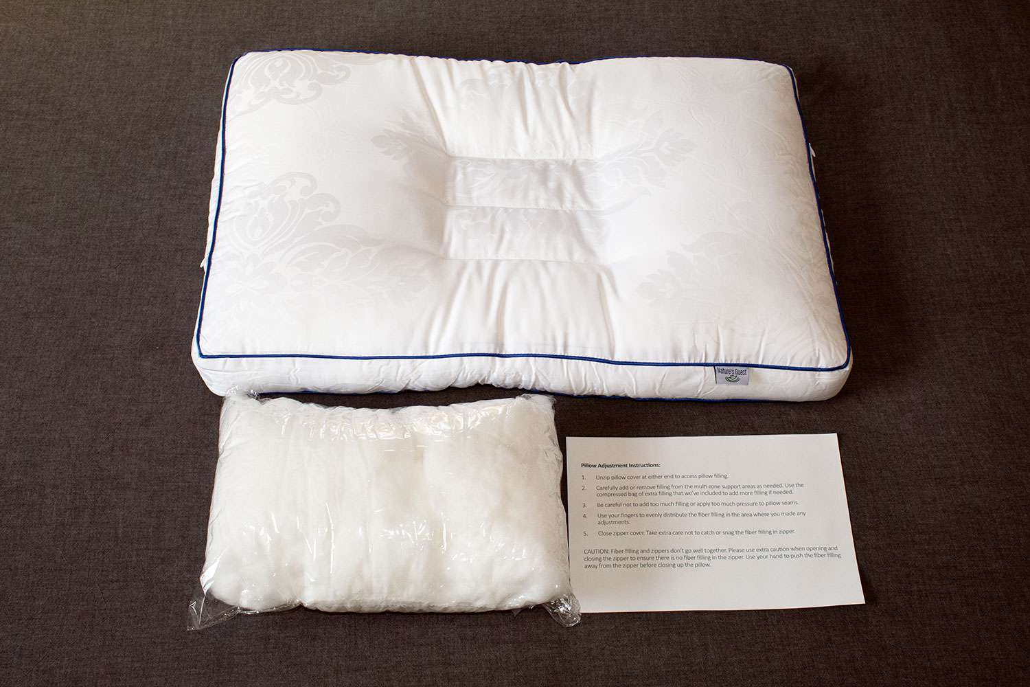 nature s guest cervical support pillow