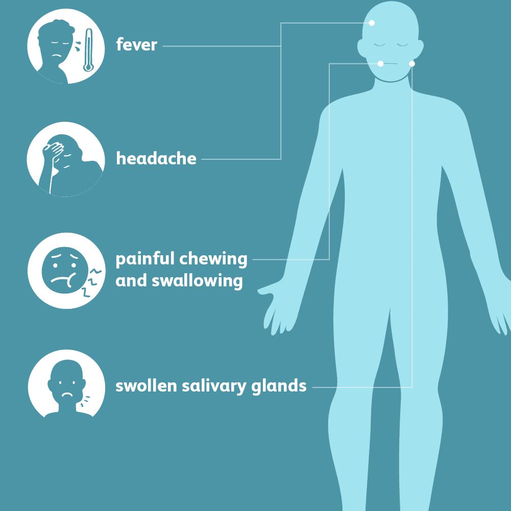 hight resolution of mumps symptoms