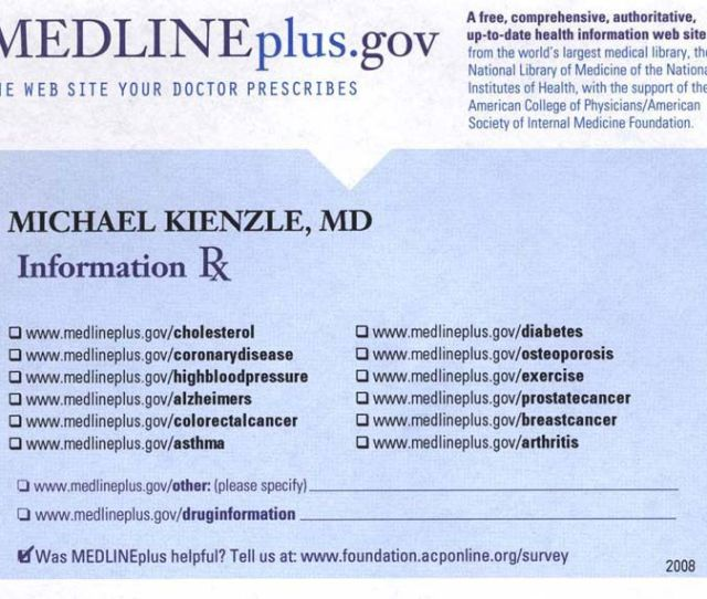 Health Information Prescription