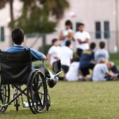 Wheelchair Meaning In Urdu Used Party Chairs For Sale Understanding Prejudice How It Forms And To Prevent Child A Wheel Chair Looking At Group Of Boys The Distance