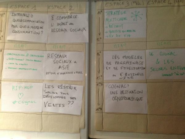 Thèmes ateliers Vinocamp Cognac 2013