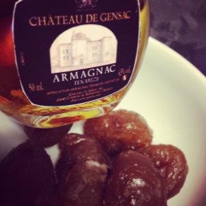 Marrons glacés faits maison avec Armagnac du Château de Gensac