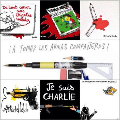 Montage photos avec dessins #Jesuischarlie