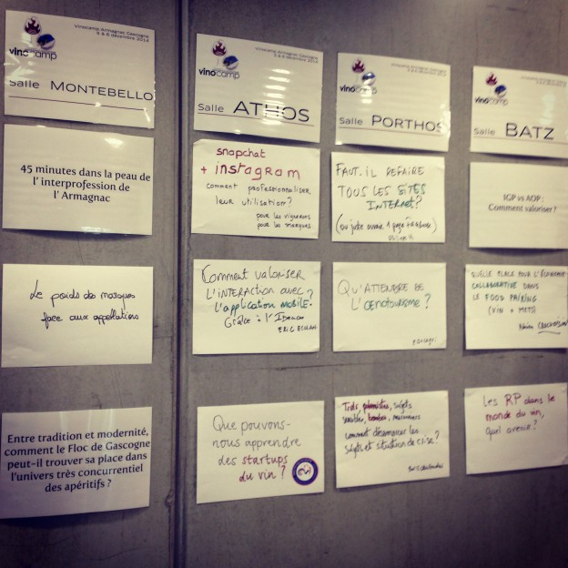 Thèmes des ateliers - Vinocamp Armagnac Gascogne 2015