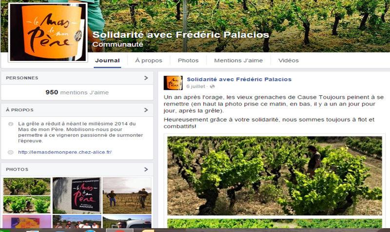 Visuel Page FB Solidarite avec Frederic Palacios