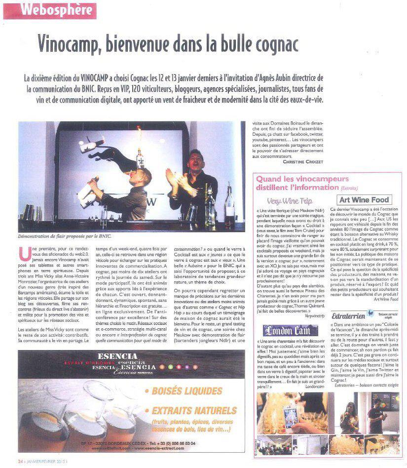 Terres de Cognac - Janvier Fevrier 2013