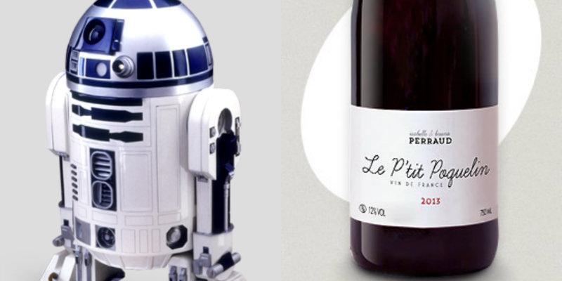 Accords vins et Star Wars - R2D2 - Ptit Poquelin Isabelle Bruno Perraud