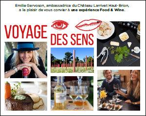 Visuel invitation Voyage des sens au Château Larrivet Haut-Brion