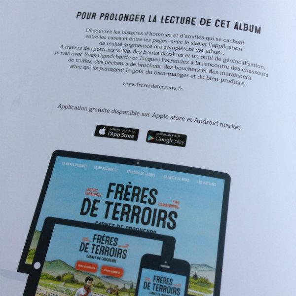 Application et site internet Frères de Terroirs