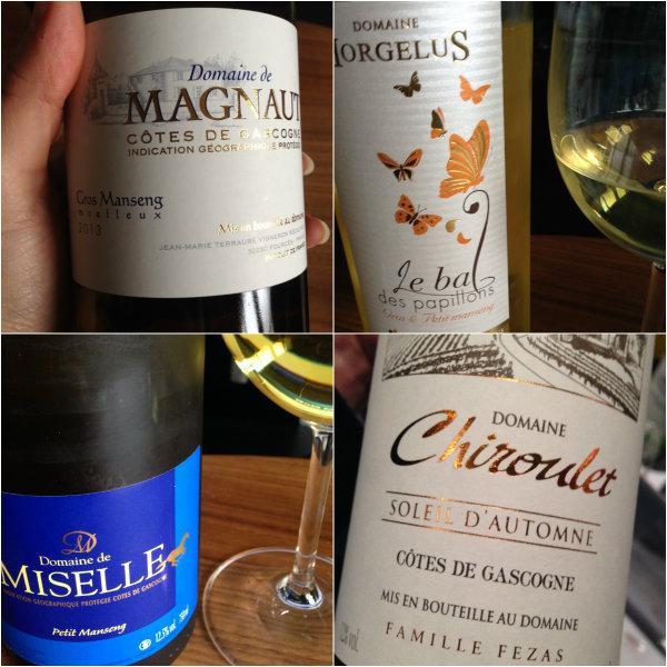 Dégustation vins moelleux des Côtes de Gascogne - Domaine de Magnaut - Domaine Horgelus - Domaine de Miselle - Domaine Chiroulet