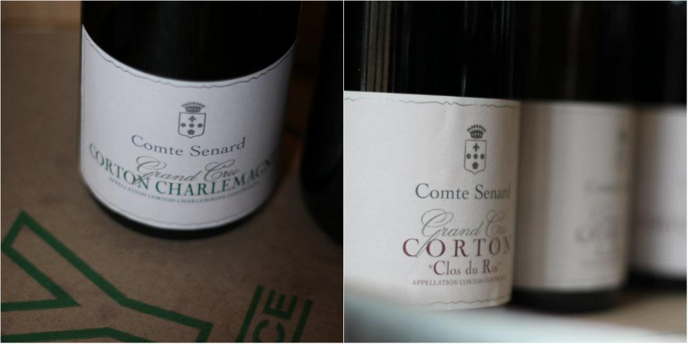 Corton Charlemagne et Corton Clos du Roi - domaine Comte Senard - Grands Jours de Bourgogne 2016