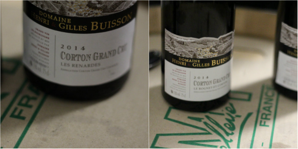Corton Les Renardes et Corton Le Rognet et Corton - domaine Henri et Gilles Buisson - Grands Jours de Bourgogne 2016