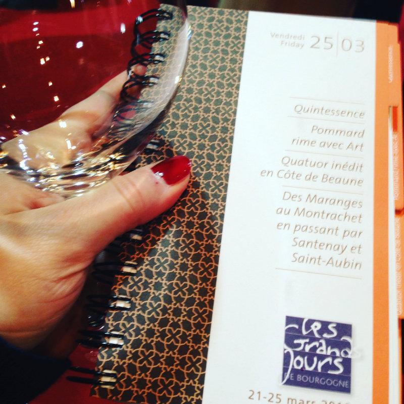 Grands Jours de Bourgogne - dégustations du 25 mars 2016
